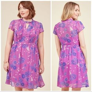 ModCloth Oh Say Can Museum A-Line Dress